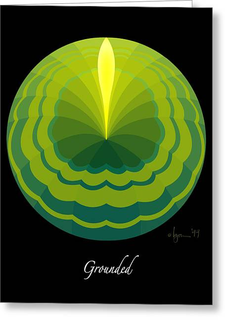 Survivor Art Greeting Cards - Grounded Greeting Card by Angela Treat Lyon
