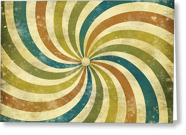 Abstract Style Greeting Cards - grunge Rays background Greeting Card by Setsiri Silapasuwanchai