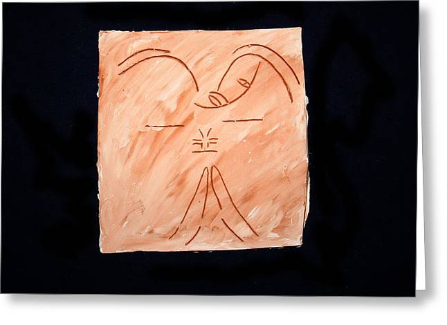 Angel Ceramics Greeting Cards - Guardian Angel Greeting Card by Gloria Ssali