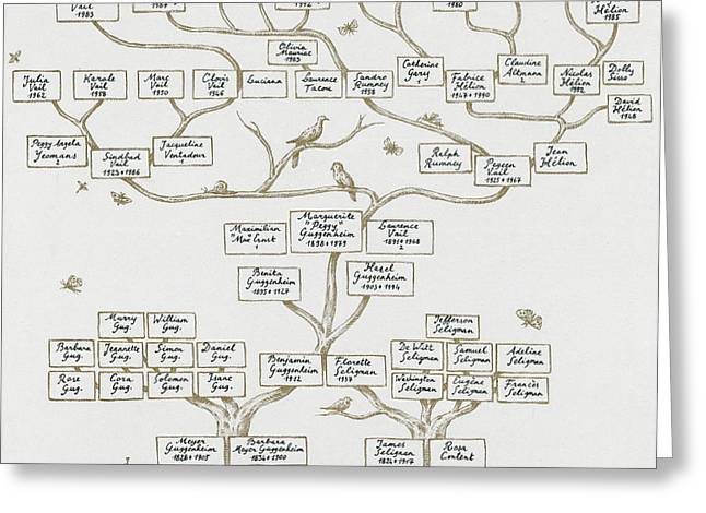Descendant Greeting Cards - Guggenheim Family Tree Greeting Card by Science Source