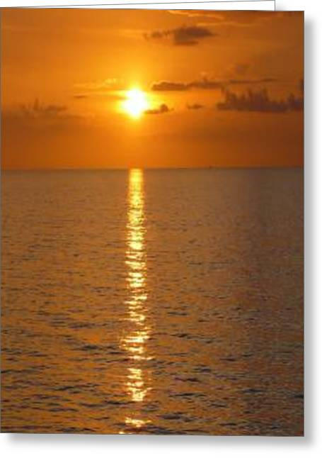Sunset Prints Greeting Cards - Gulfsets II Greeting Card by Florene Welebny