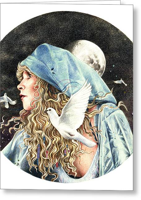 Doves Greeting Cards - Gypsy Greeting Card by Johanna Pieterman