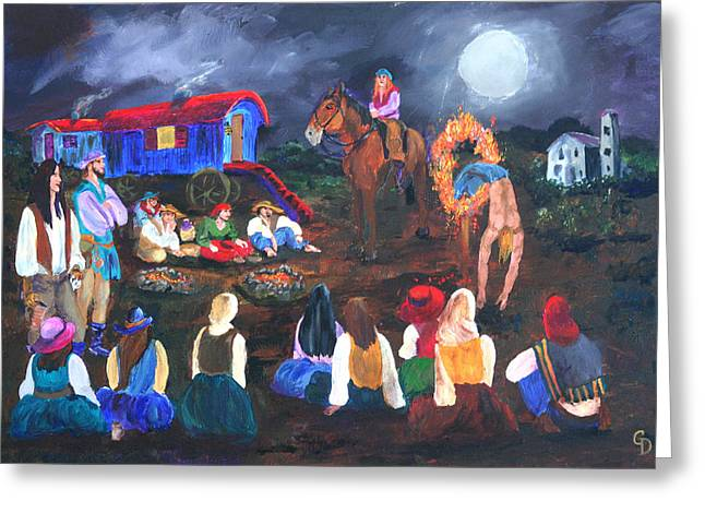 Gail Daley Greeting Cards - Gypsy Troupe Greeting Card by Gail Daley