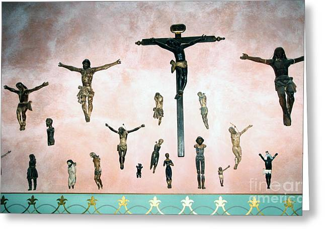 Crucifix Greeting Cards - Hacienda de los Santos Greeting Card by Thomas R Fletcher