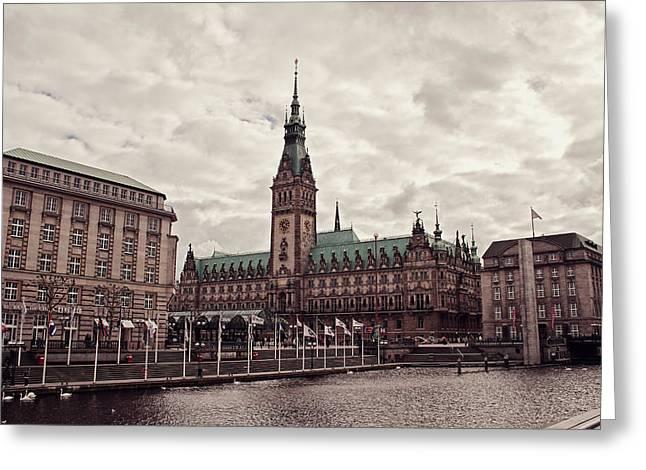 Advertising Office Greeting Cards - Hamburg city hall Greeting Card by Benjamin Matthijs