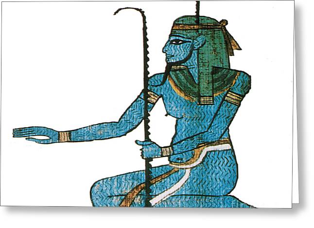 Egyptian Art Greeting Cards - Hapi Egyptian God Greeting Card by Photo Researchers