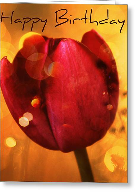 Oregon Flowers Greeting Cards - Happy Birthday Greeting Card by Cathie Tyler