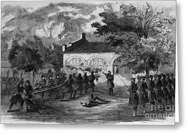 Detachment Greeting Cards - Harpers Ferry Insurrection, 1859 Greeting Card by Photo Researchers
