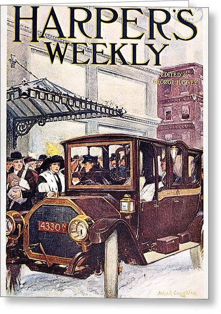 Weekly Greeting Cards - Harpers Weekly, 1913 Greeting Card by Granger