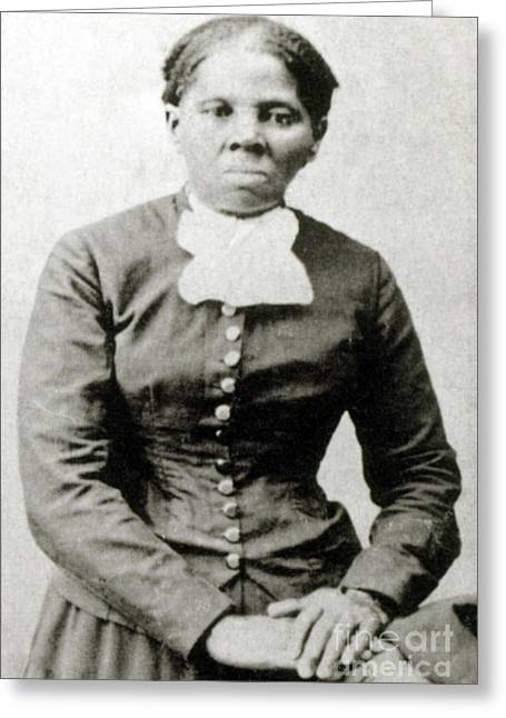Abolition Greeting Cards - Harriet Tubman American Abolitionist Greeting Card by Photo Researchers