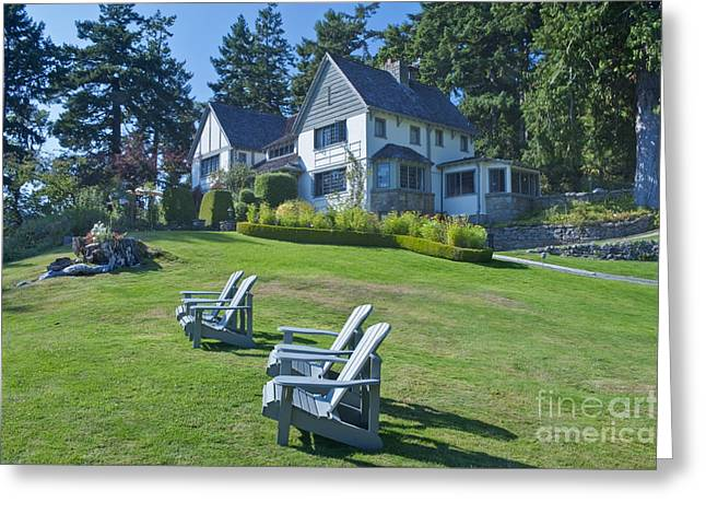 Lawn Chair Greeting Cards - Hastings House Lawn Greeting Card by Rob Tilley