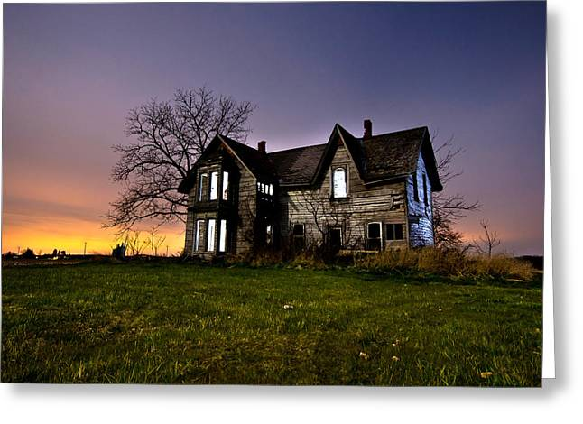 Collapsing Greeting Cards - Haunted House Greeting Card by Cale Best