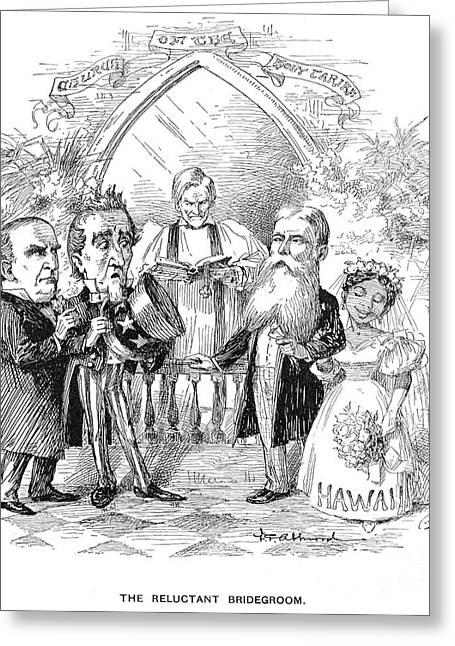 Bridegroom Greeting Cards - Hawaiian Annexation, 1897 Greeting Card by Granger
