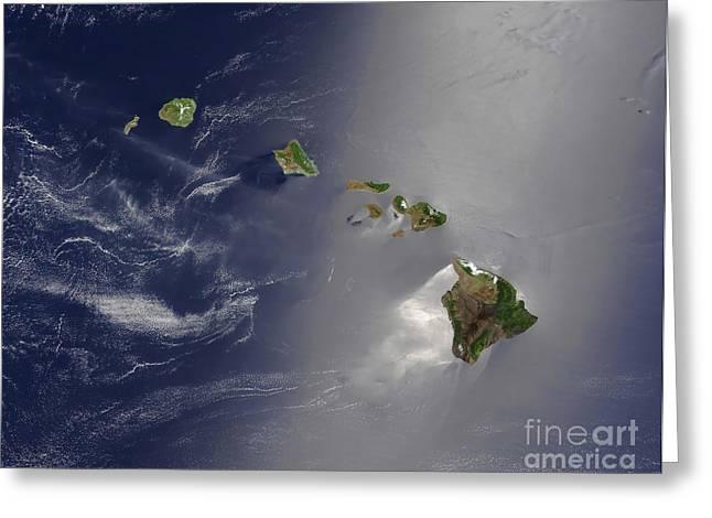 Niihau Hawaii Greeting Cards - Hawaiian Islands Greeting Card by Stocktrek Images