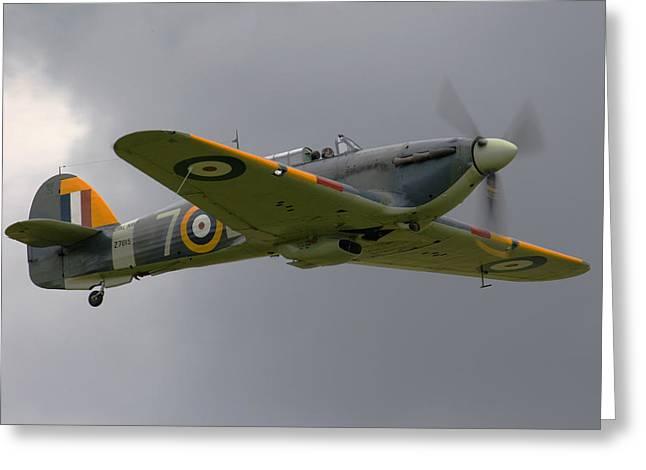 Hawker Hurricane Greeting Card by Ken Brannen