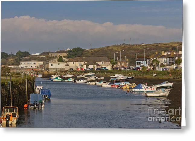 Kernow Greeting Cards - Hayle Harbour Greeting Card by Brian Roscorla