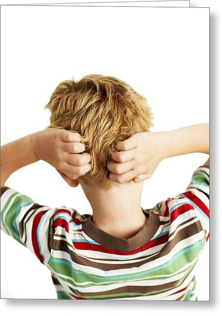 Nit Greeting Cards - Head Lice Greeting Card by Ian Boddy