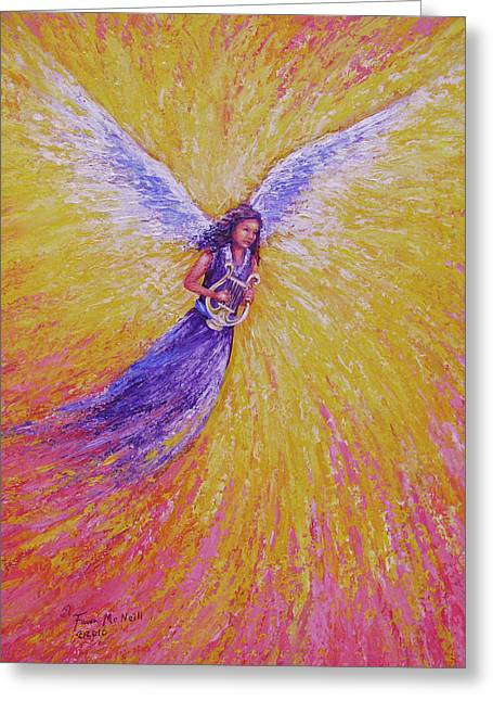 Original Art Greeting Cards - Healing Hymns Greeting Card by Fawn McNeill