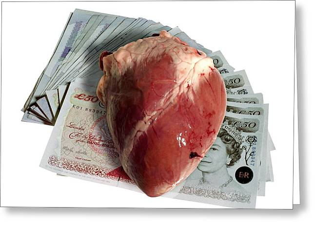 Heart Transplant Sale Greeting Card by Victor De Schwanberg