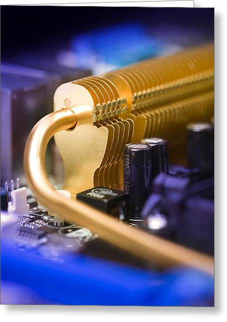 Component Photographs Greeting Cards - Heat Sink Greeting Card by Paul Rapson