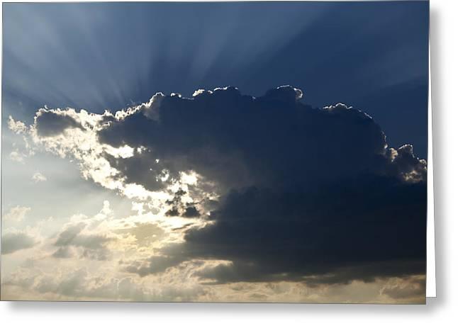 Drama Photographs Greeting Cards - Heavens Light Greeting Card by Andrew Soundarajan