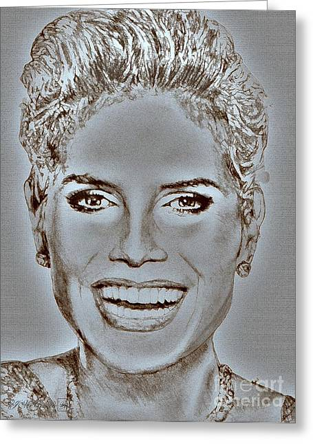 Jem Fine Arts Mixed Media Greeting Cards - Heidi Klum in 2010 Greeting Card by J McCombie