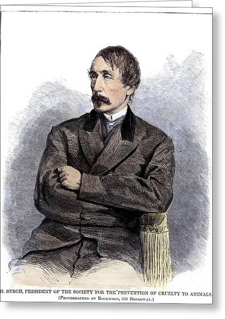 Henry Bergh (1811-1888) Greeting Card by Granger