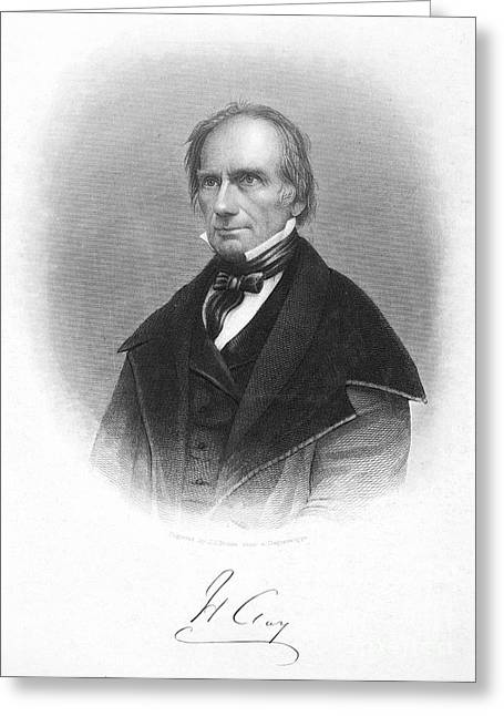 Autograph Greeting Cards - Henry Clay (1777-1852) Greeting Card by Granger