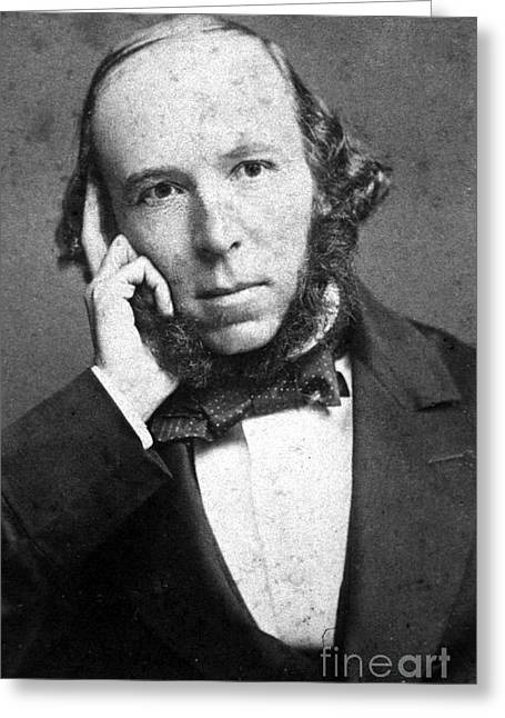 Sociologists Greeting Cards - Herbert Spencer, English Polymath Greeting Card by Science Source