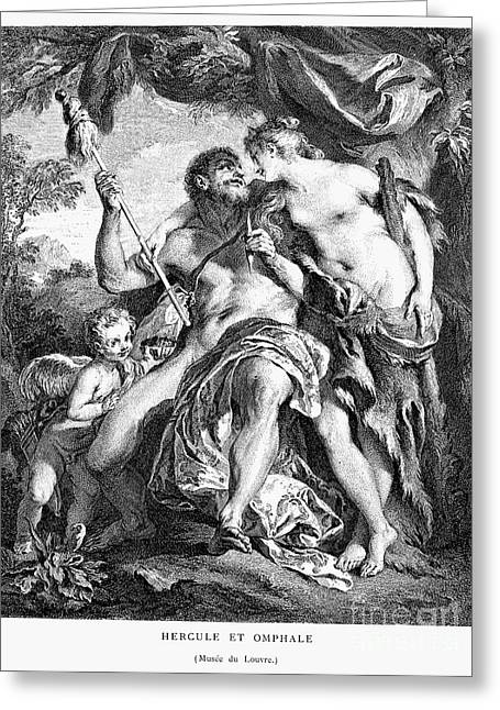 Distaff Greeting Cards - Hercules And Omphale Greeting Card by Granger