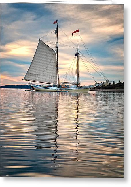 Schooner Greeting Cards - Heritage Greeting Card by Fred LeBlanc
