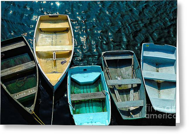 Row Boat Greeting Cards - Hey Squeeze Me In Greeting Card by Arnie Goldstein
