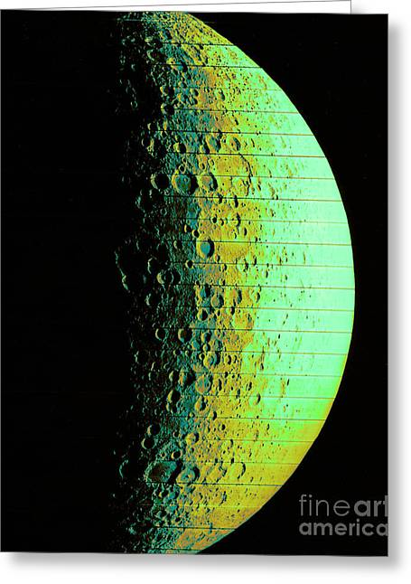 Hidden Side Of Moon Greeting Card by Omikron/NASA