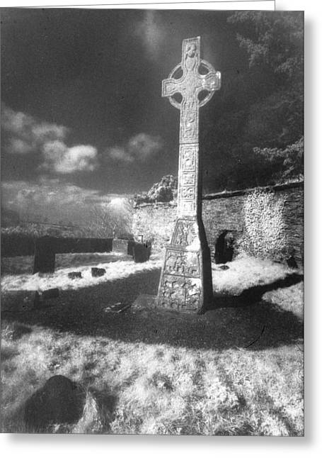 Gravestones Greeting Cards - High Cross Greeting Card by Simon Marsden