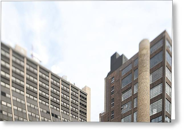 Overcast Day Greeting Cards - High Rise Buildings Greeting Card by Eddy Joaquim