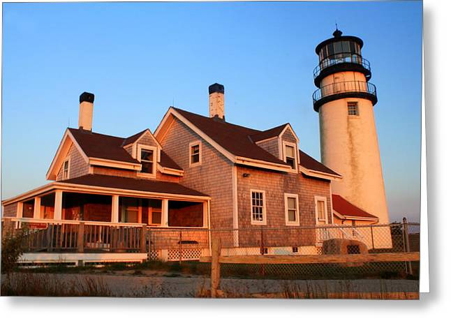 Truro Greeting Cards - Highland Lighthouse Cape Cod Greeting Card by John Burk