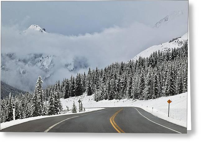 Highway 40 In Winter, Highwood Pass Greeting Card by Darwin Wiggett