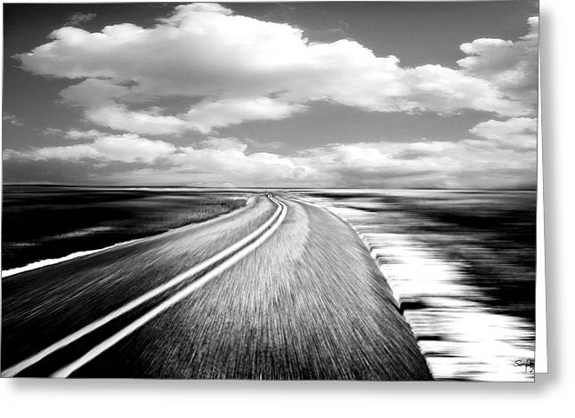 Black Top Greeting Cards - Highway Run Greeting Card by Scott Pellegrin