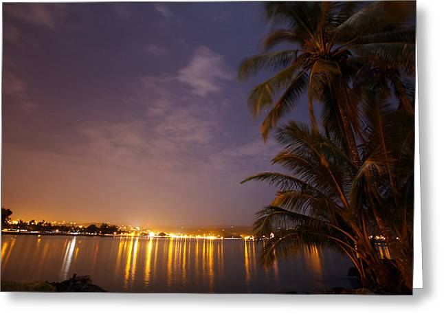 Hilo Greeting Cards - Hilo Lights Greeting Card by Ty Helbach