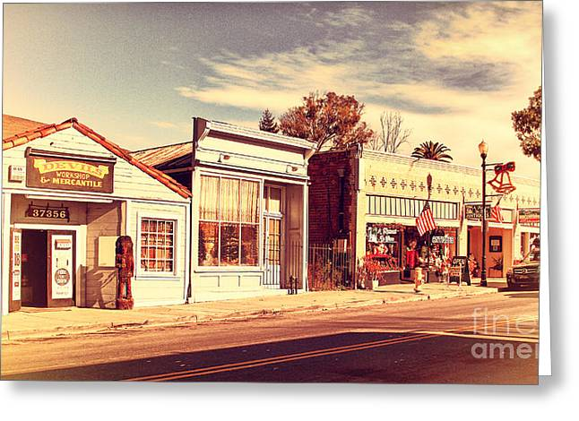 Historic Niles District In California Near Fremont . Main Street . Niles Boulevard . 7d10676 Greeting Card by Wingsdomain Art and Photography