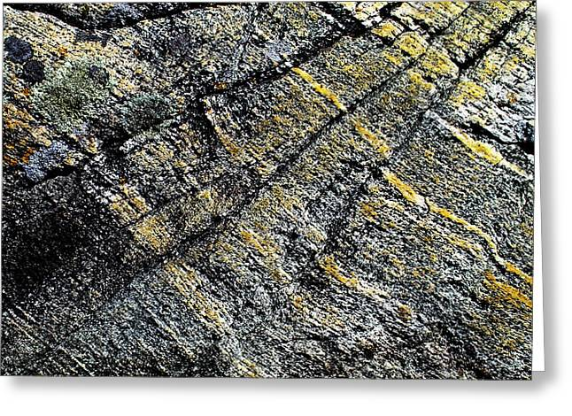 Cracked Stone Greeting Cards - History of Earth 5 Greeting Card by Heiko Koehrer-Wagner
