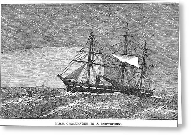 1874 Greeting Cards - Hms Challenger, 1874 Greeting Card by Granger