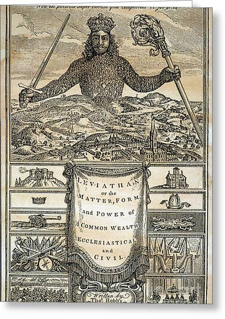 1st Edition Greeting Cards - Hobbes: Leviathan, 1651 Greeting Card by Granger