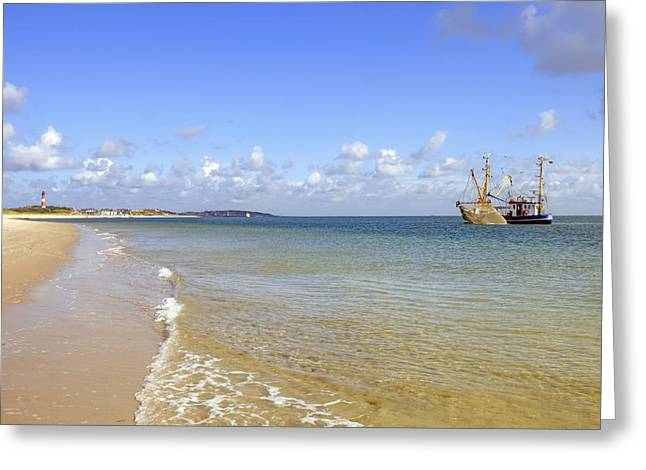 Fishing Trawler Greeting Cards - Hoernum - Sylt Greeting Card by Joana Kruse