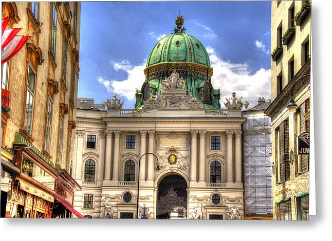 Hofburg Palace - Vienna Greeting Card by Jon Berghoff