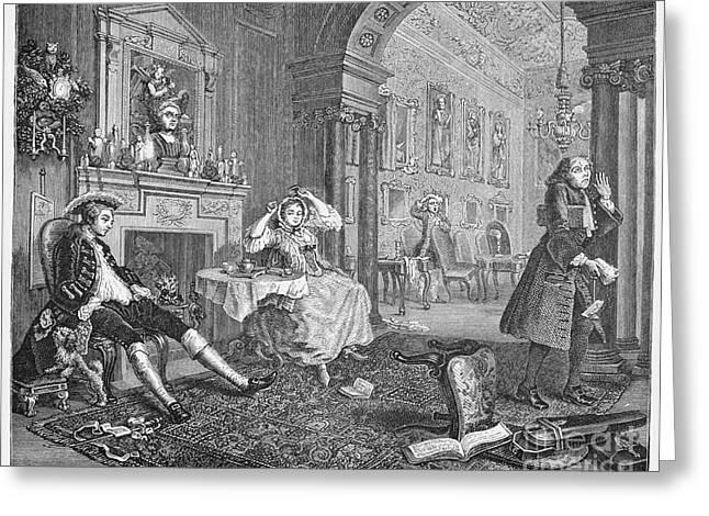 Hogarth Greeting Cards - Hogarth: Marriage Greeting Card by Granger