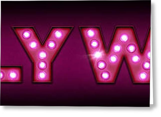 Hollywood in Lights Greeting Card by Michael Tompsett
