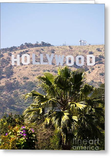 Editorial Photographs Greeting Cards - Hollywood Sign Photo Greeting Card by Paul Velgos