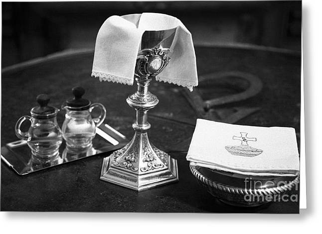 Chalice Greeting Cards - Holy communion Greeting Card by Gaspar Avila