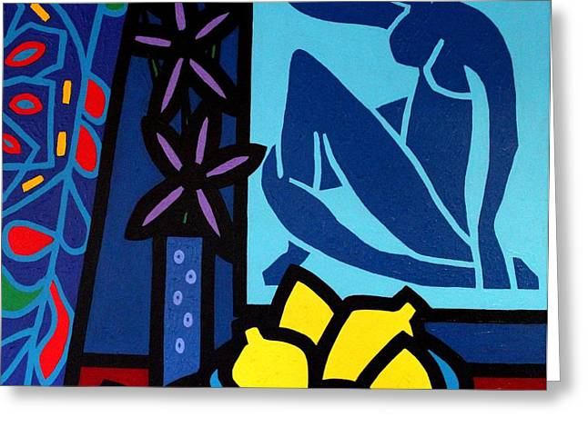 Lemon Art Greeting Cards - Homage To Matisse I Greeting Card by John  Nolan